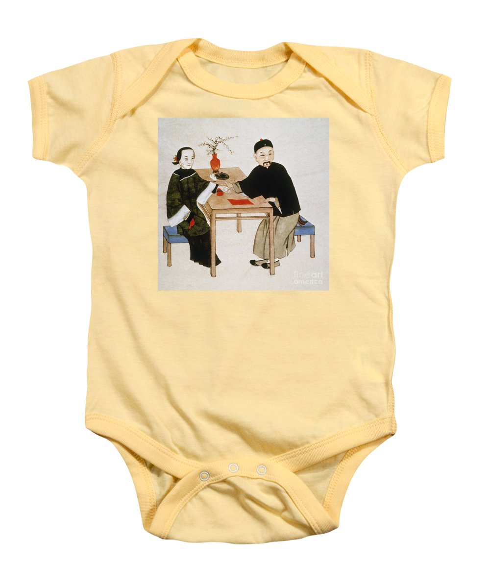 Alternative Baby Onesie featuring the photograph Doctor Taking Pulse by Granger