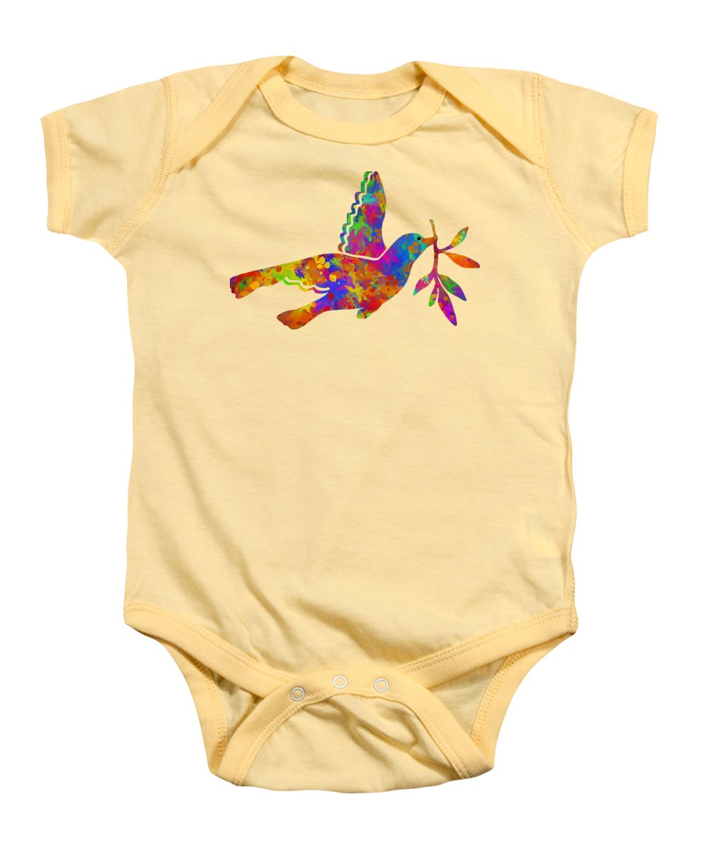 Dove With Olive Branch Onesie for Sale by Christina Rollo