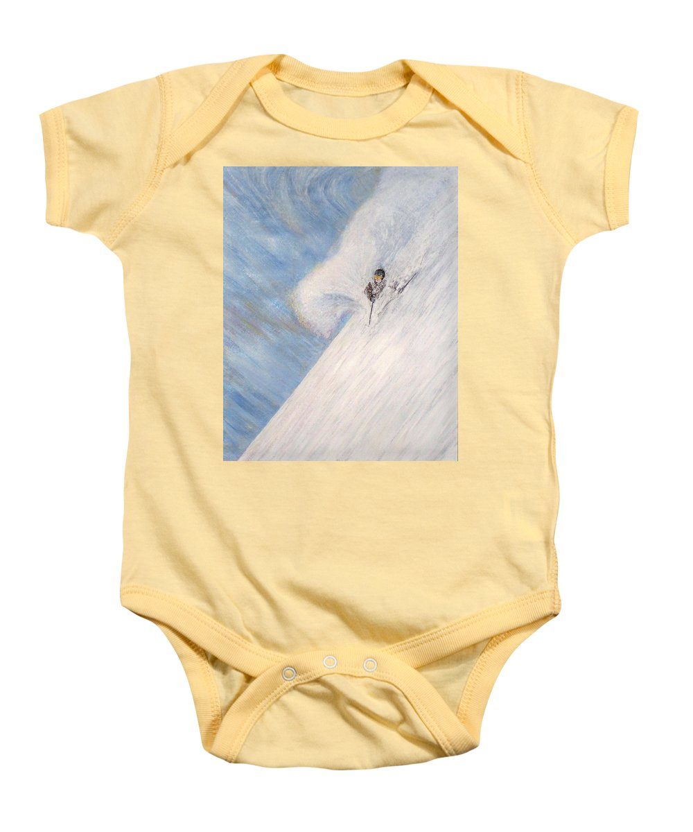 Landscape Baby Onesie featuring the painting Dreamsareal by Michael Cuozzo