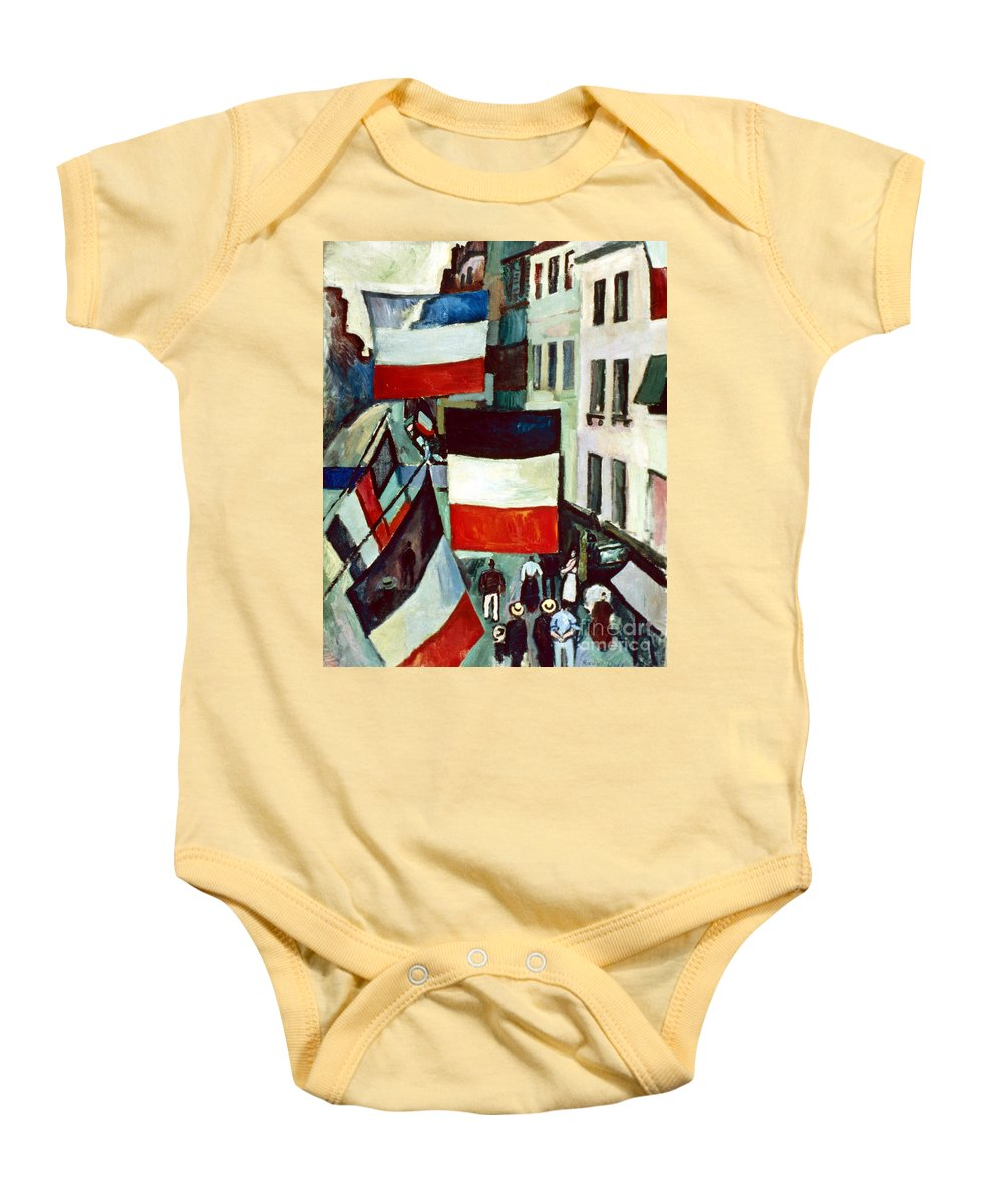 1906 Baby Onesie featuring the photograph Dufy: Flags, 1906 by Granger