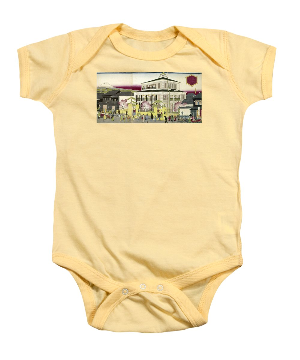 1873 Baby Onesie featuring the photograph Edo: Bank, C1873 by Granger