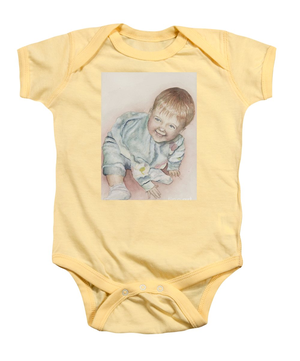 Girl Baby Onesie featuring the painting Elise by Nadine Rippelmeyer