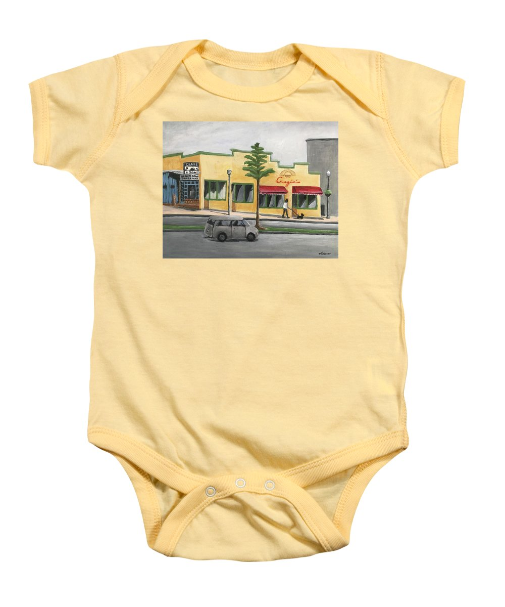 Falls Church Baby Onesie featuring the painting Falls Church by Victoria Lakes