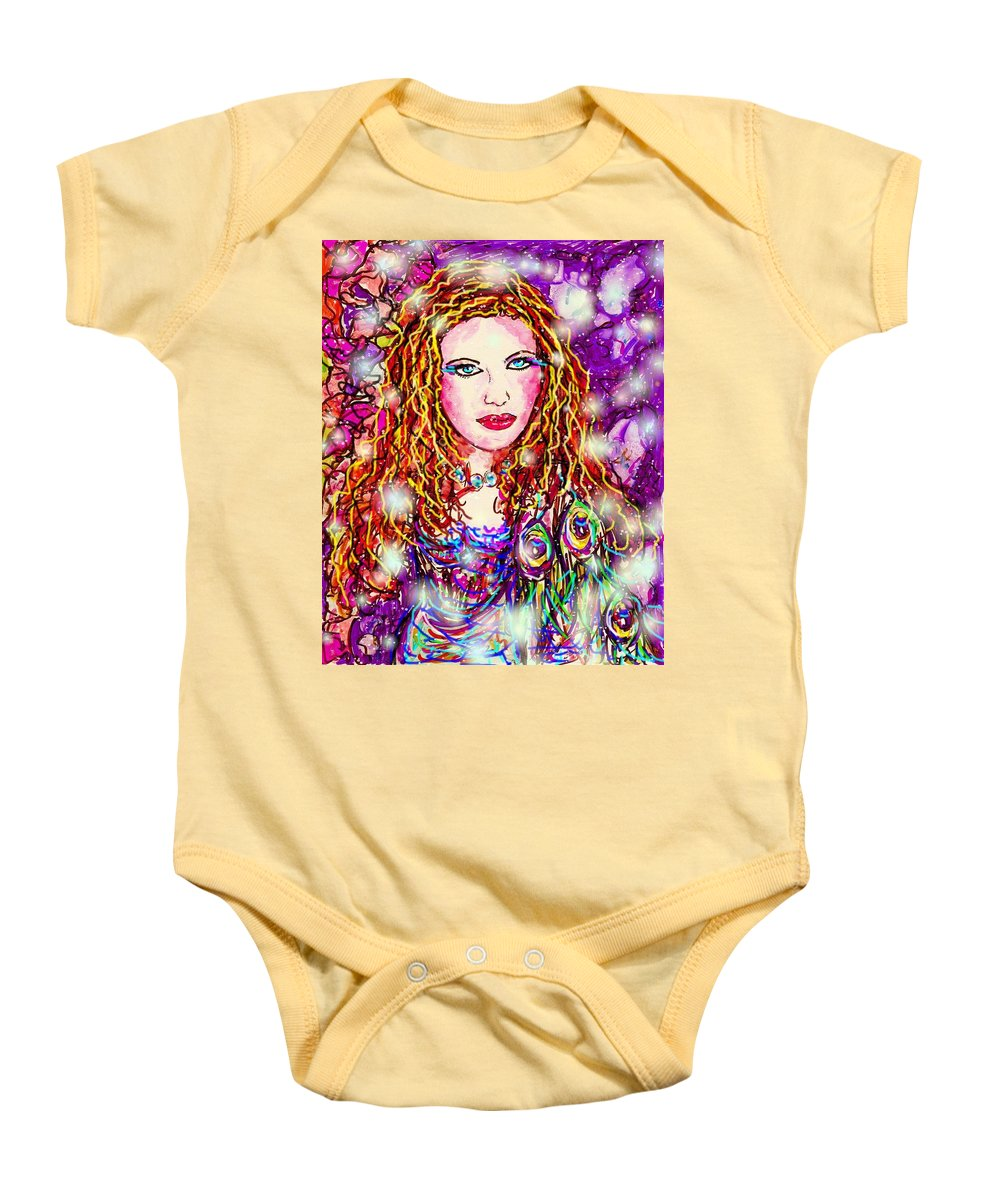 Female Baby Onesie featuring the digital art Fancy Lady by Natalie Holland