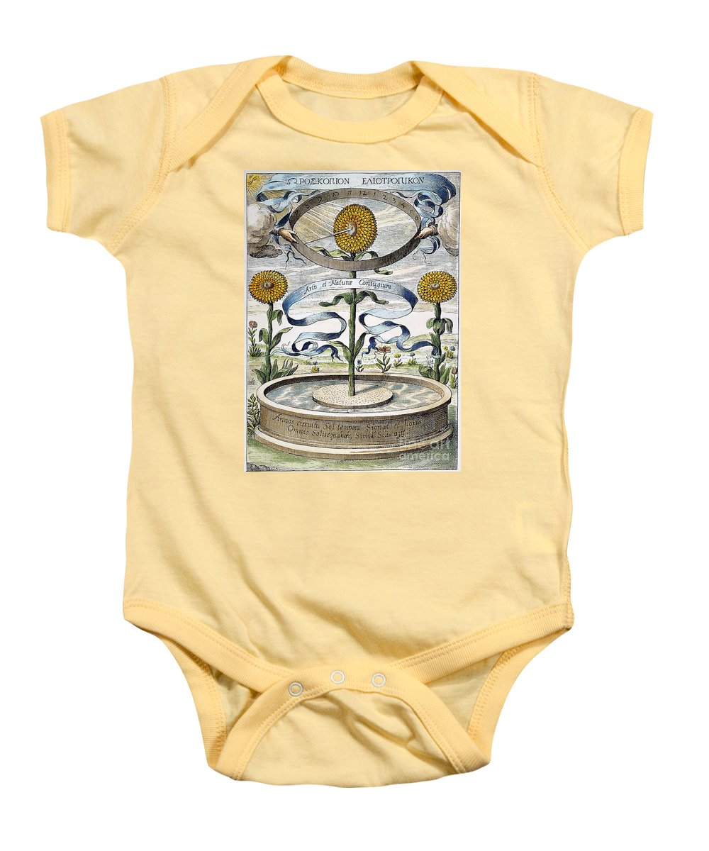 1643 Baby Onesie featuring the photograph Flower Clock, 1643 by Granger