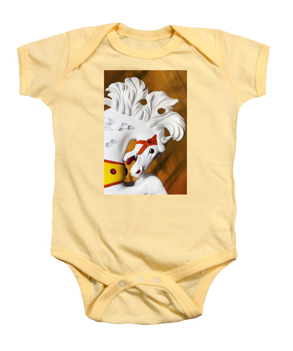 Carousel Baby Onesie featuring the photograph Flowing Mane 1 by Kelley King