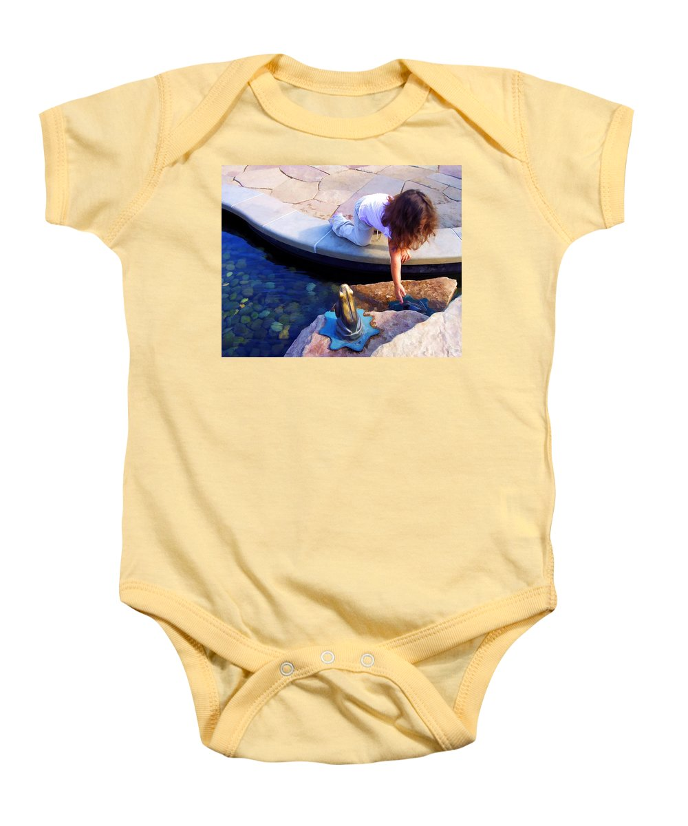 Frogs Baby Onesie featuring the photograph Froggies by Lyle Hatch