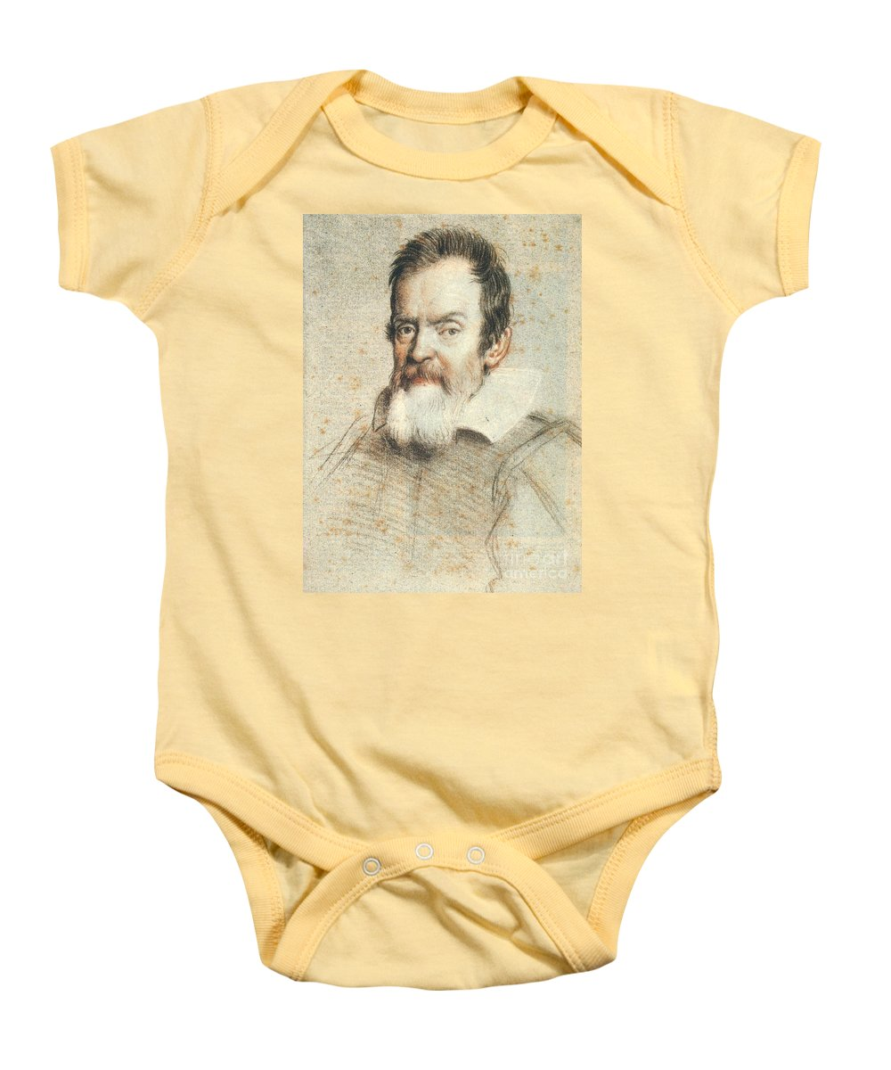 1624 Baby Onesie featuring the photograph Galileo Galilei by Granger