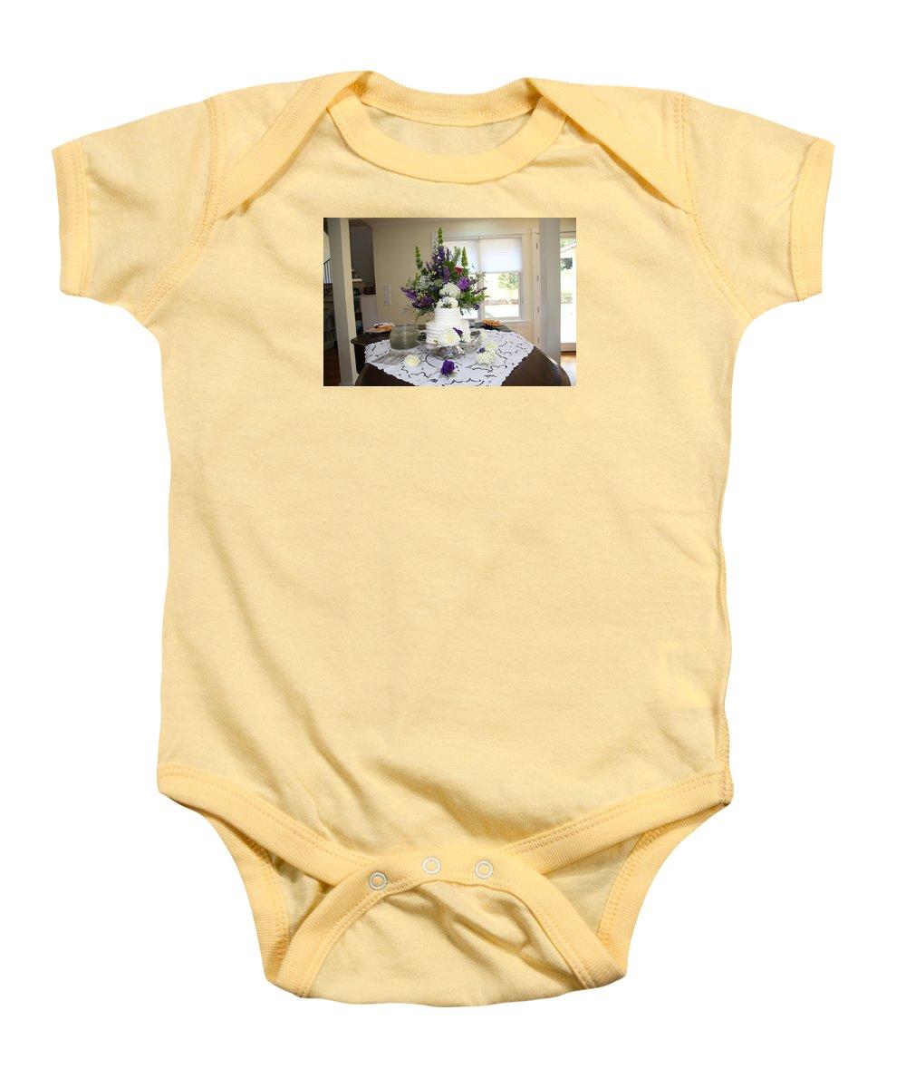 Garrett Baby Onesie featuring the photograph Garrett-359 by Stephanie Klein-Davis