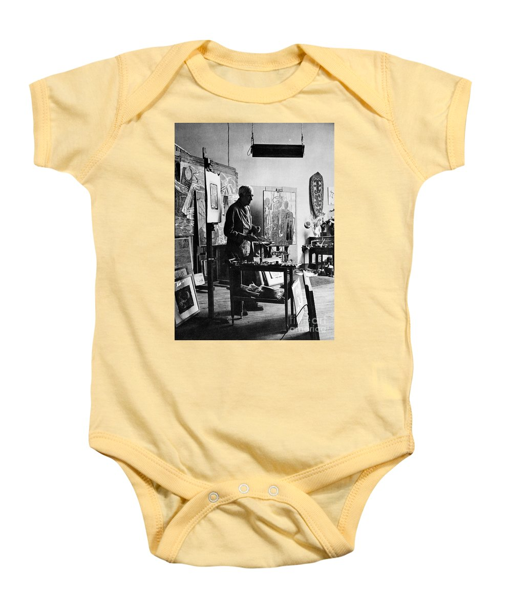20th Century Baby Onesie featuring the photograph Georges Braque (1882-1963) by Granger