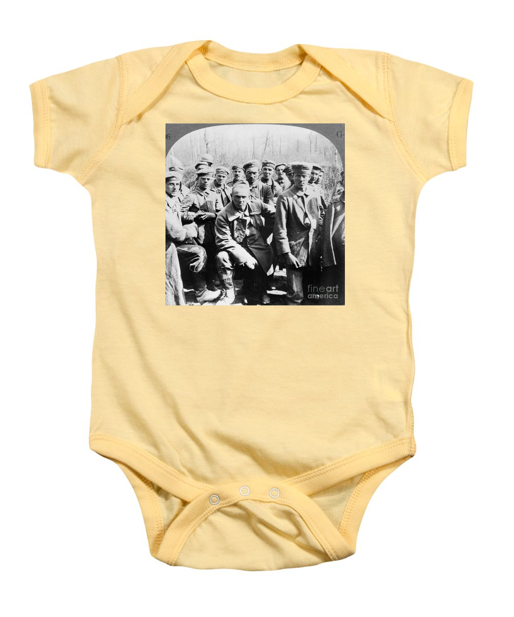 1918 Baby Onesie featuring the photograph German Prisoners Of War by Granger