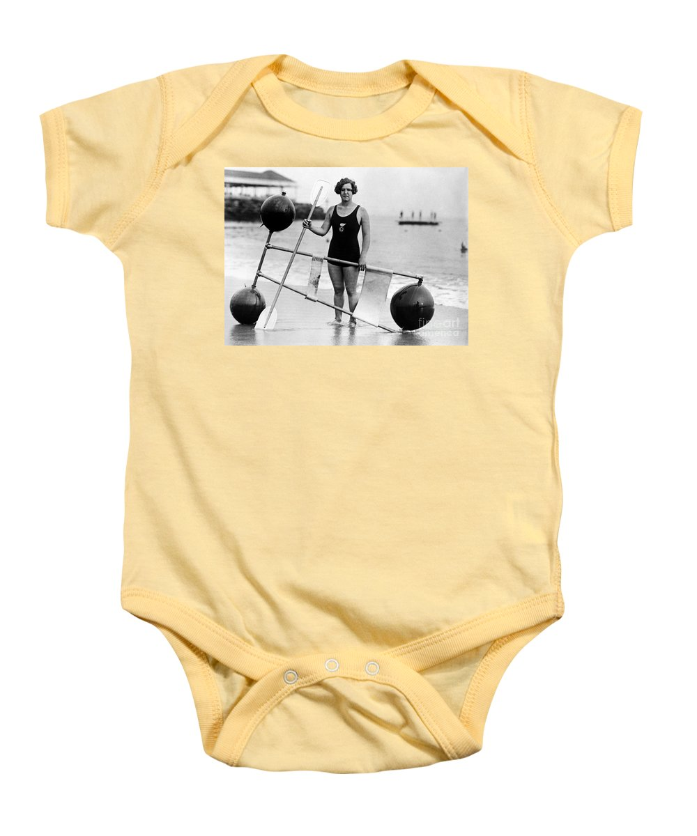 1924 Baby Onesie featuring the photograph Gertrude Ederle (1906-2003) by Granger