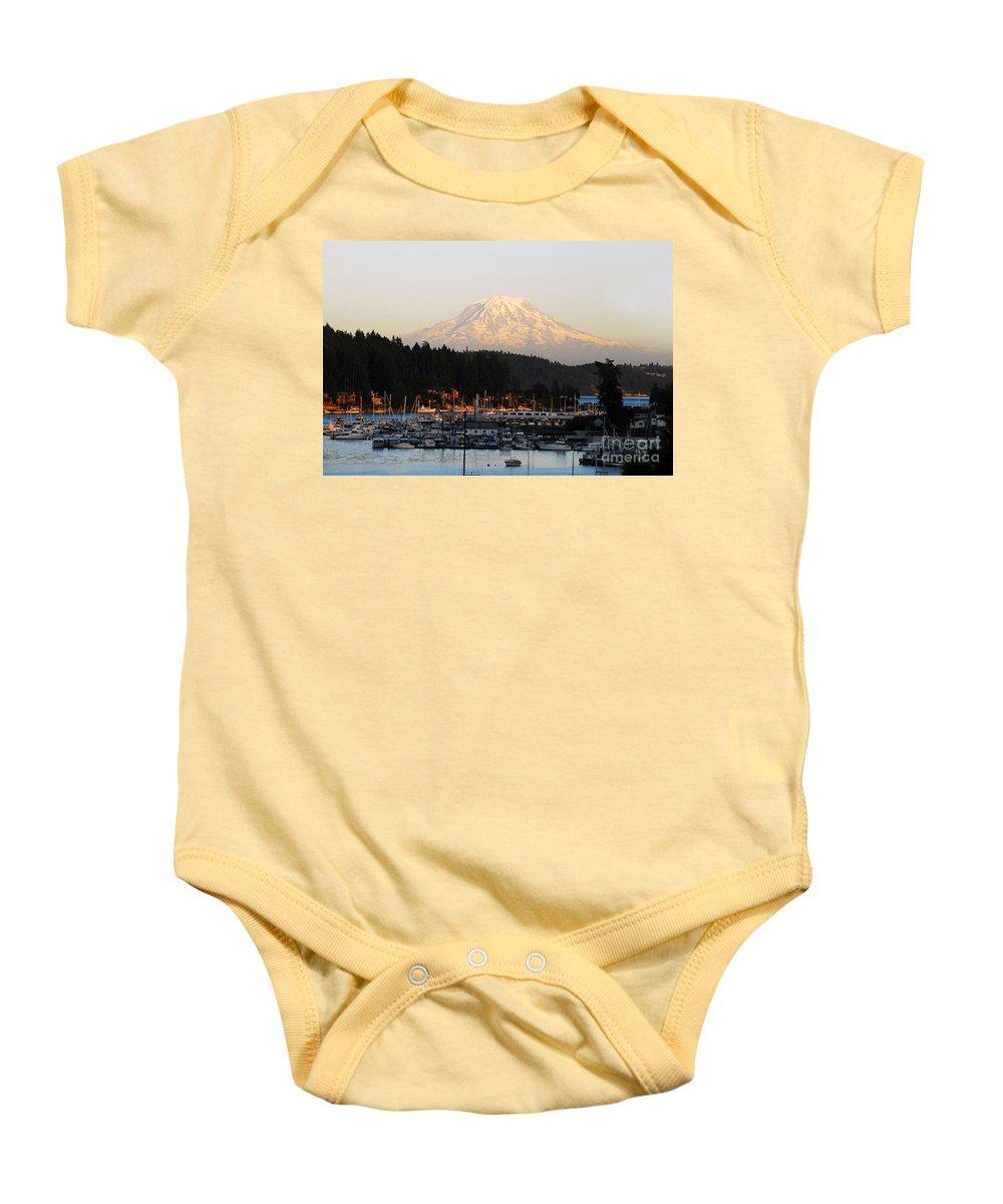 Gig Harbor Washington Baby Onesie featuring the photograph Gig Harbor by David Lee Thompson