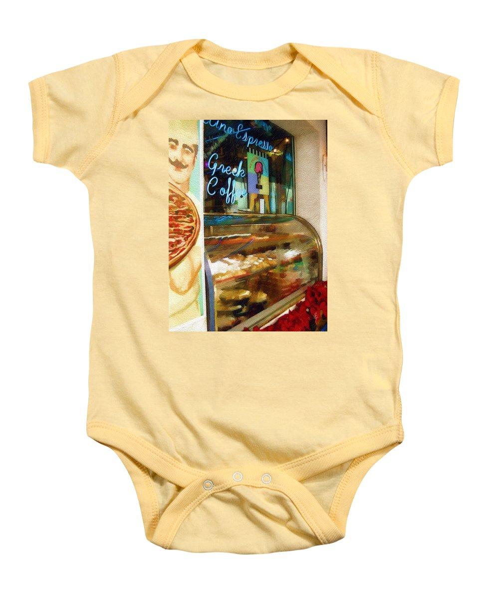 Greek Baby Onesie featuring the photograph Greek Coffee by Sandy MacGowan