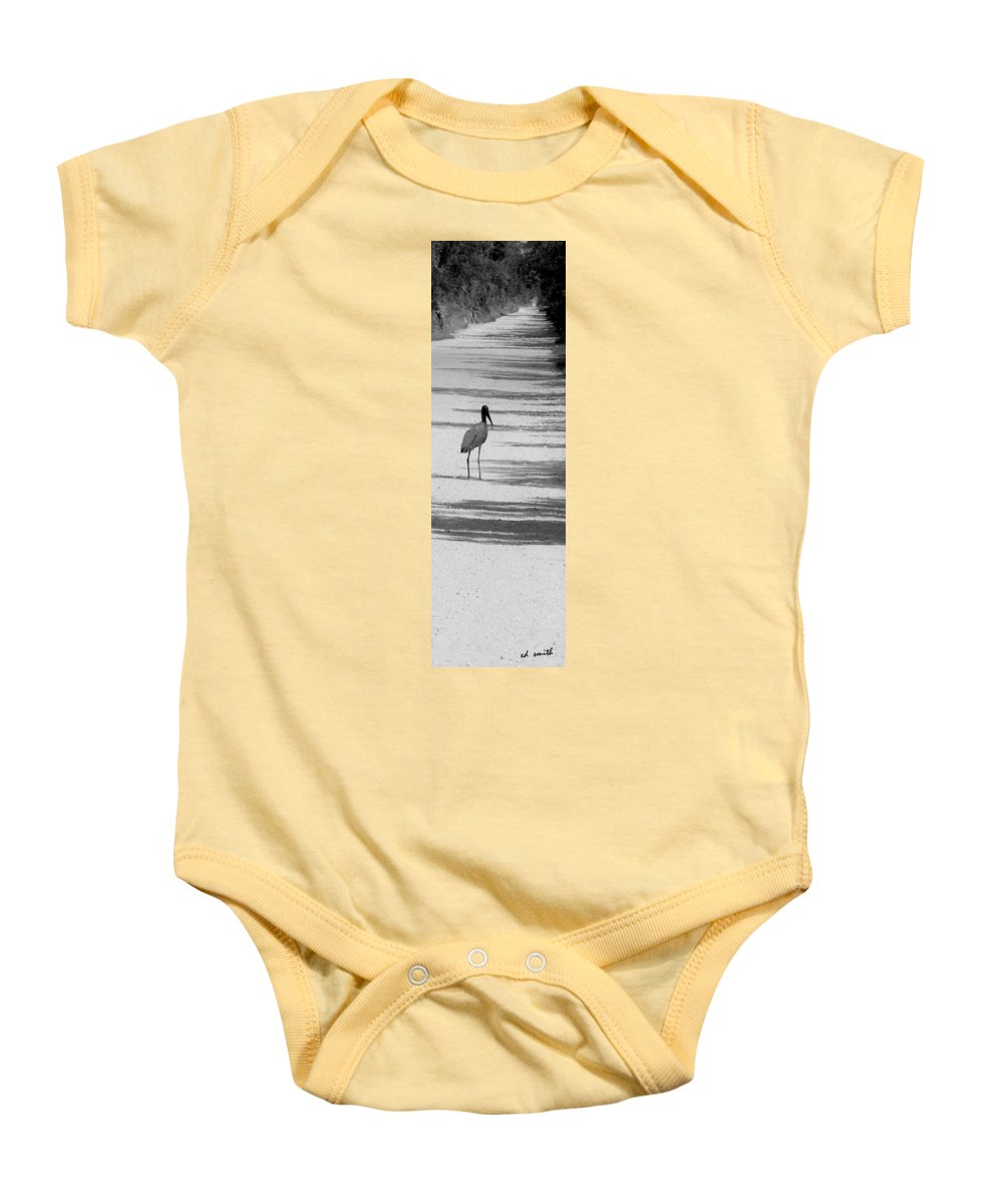 Still Life Baby Onesie featuring the photograph Hitch Hiker by Ed Smith