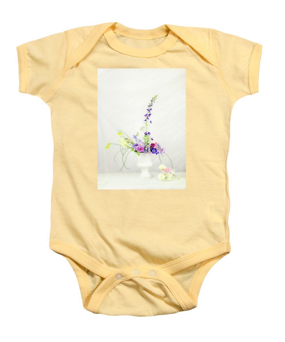 Floral Baby Onesie featuring the photograph Homegrown Floral Bouquet by Susan Gary