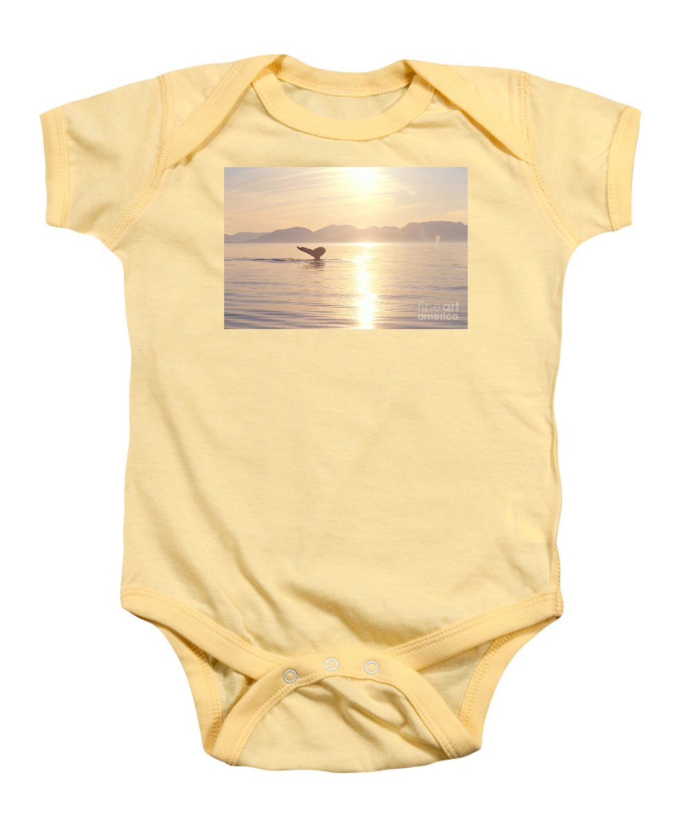 Alaska Baby Onesie featuring the photograph Humpback Lifting Fluke by John Hyde - Printscapes