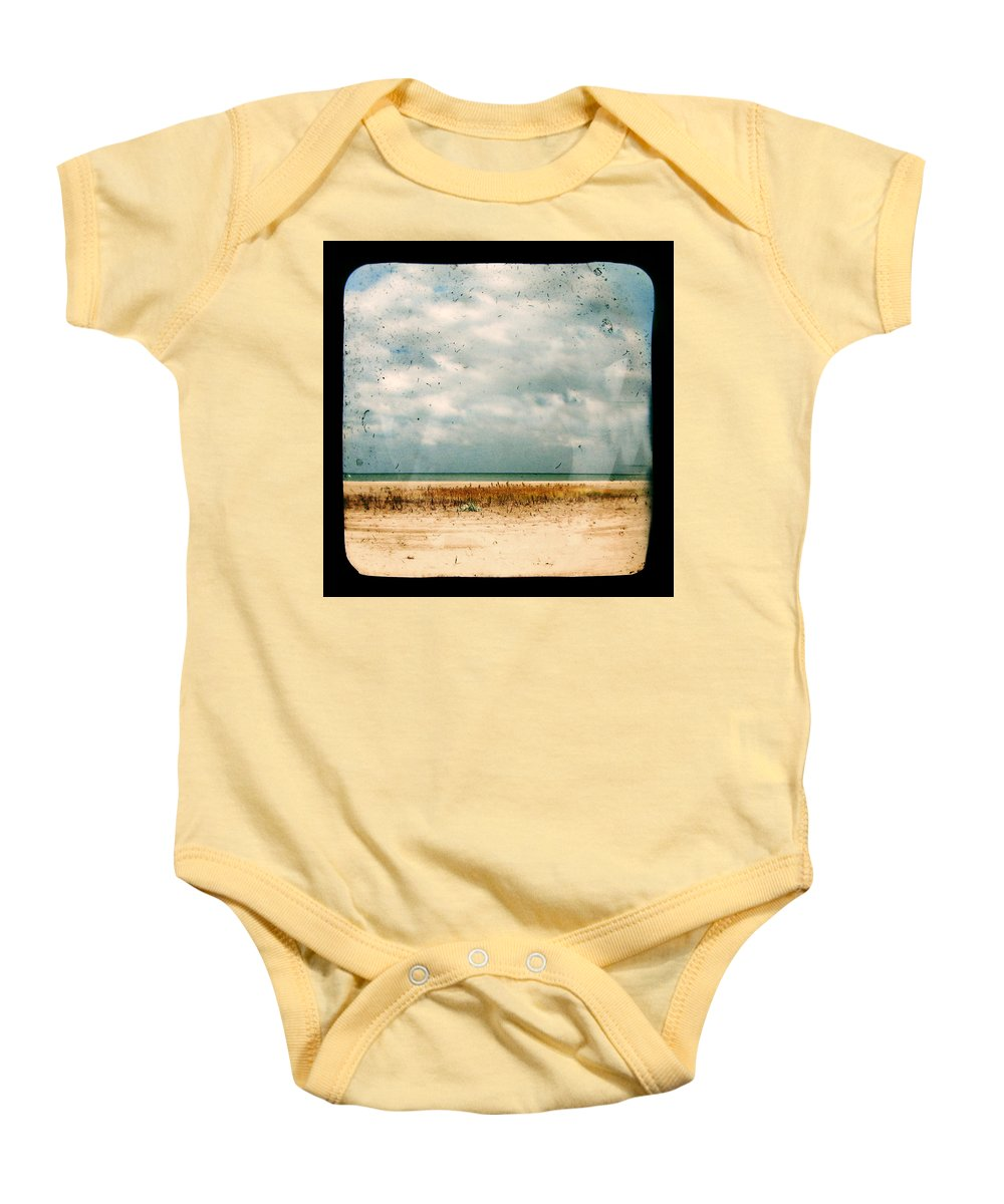 Dipasquale Baby Onesie featuring the photograph I Honestly Believed by Dana DiPasquale