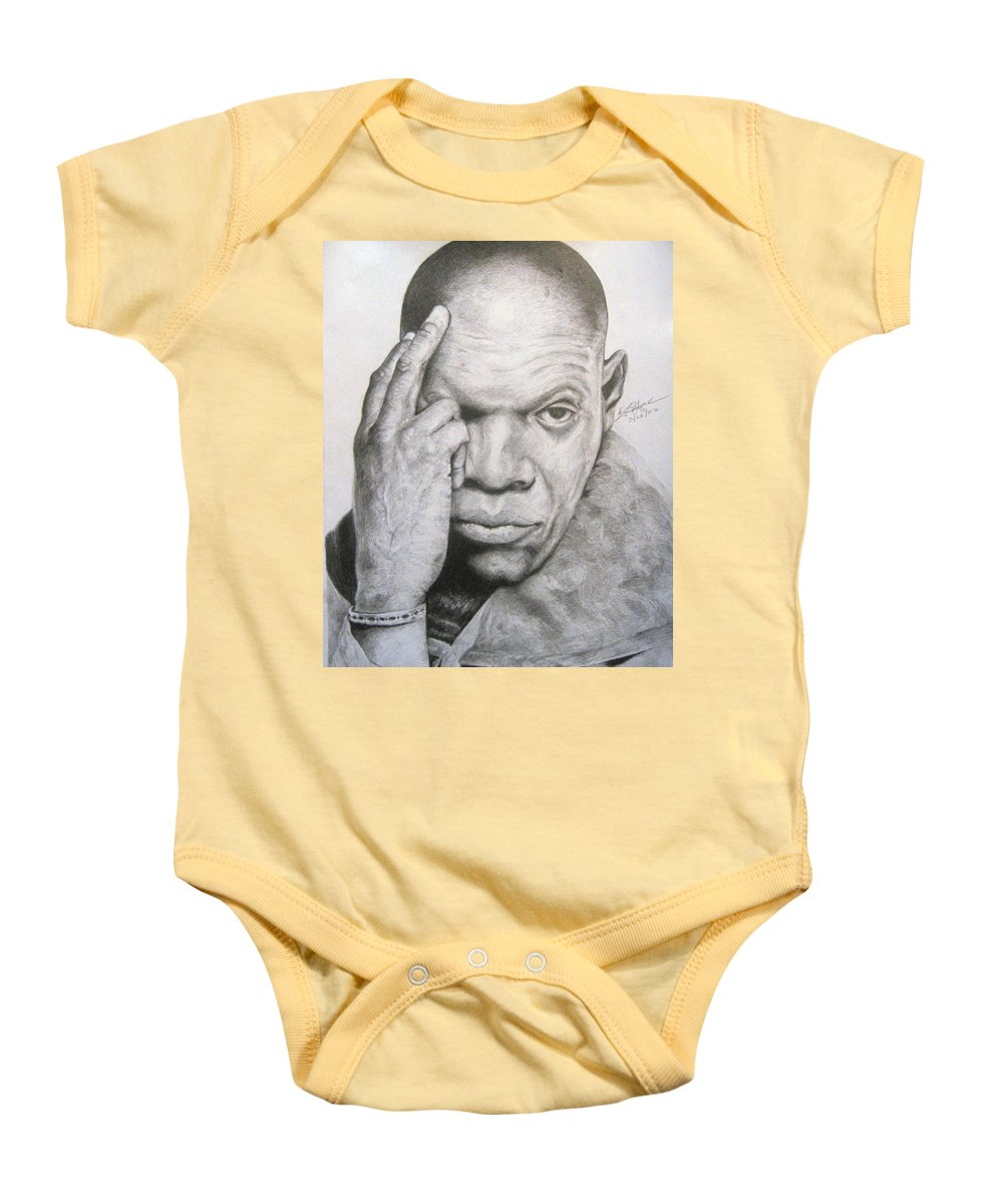 Portrait Baby Onesie featuring the drawing Jackson By Kyle Anderson by Joyce Owens