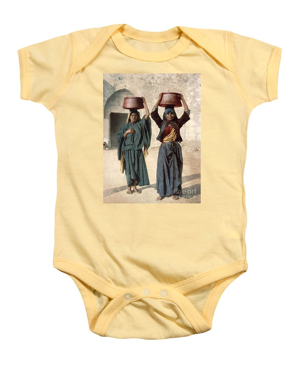 1895 Baby Onesie featuring the photograph Jerusalem: Milk Seller by Granger
