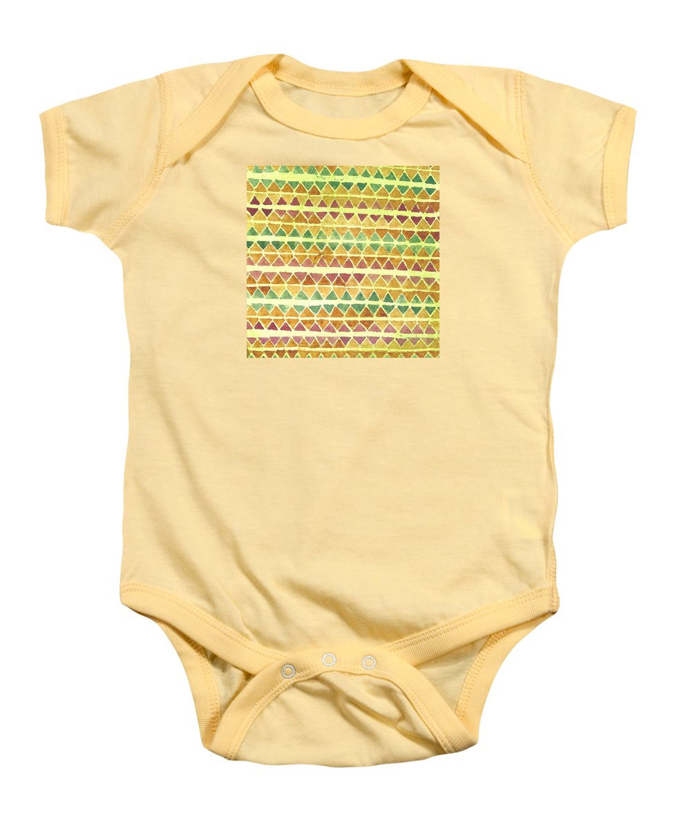 Kapa Baby Onesie featuring the painting Kapa Patterns 9 by Cynthia Conklin