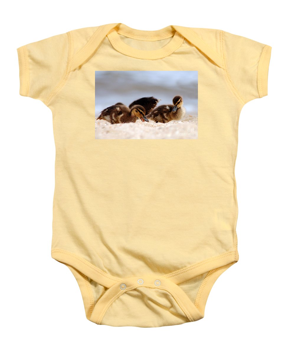 Clay Baby Onesie featuring the photograph Kids Will Play by Clayton Bruster