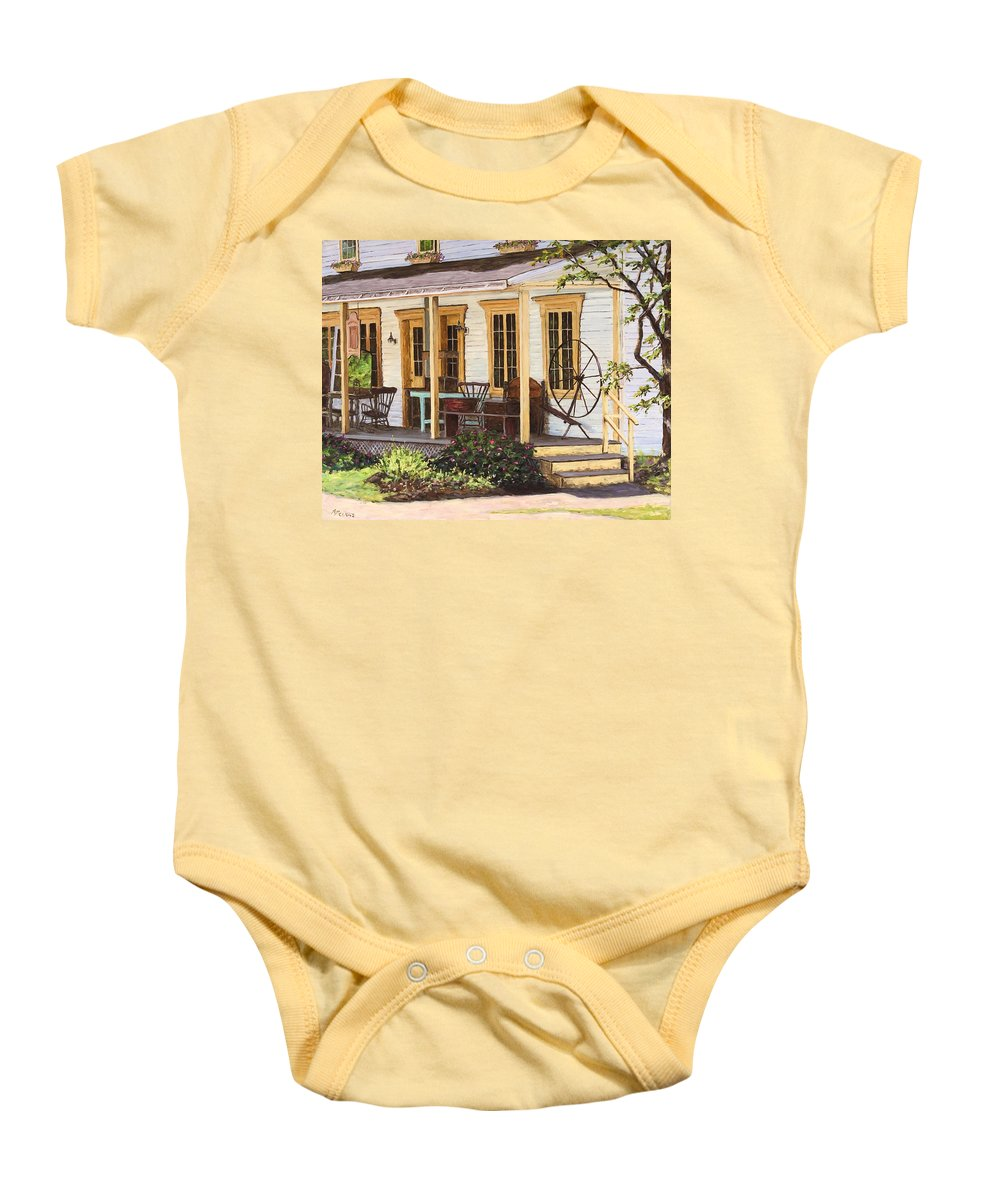 Urban Baby Onesie featuring the painting Knowlton Lac Brome by Richard T Pranke