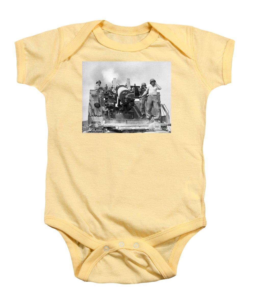 1952 Baby Onesie featuring the photograph Korean War Artillerymen by Granger
