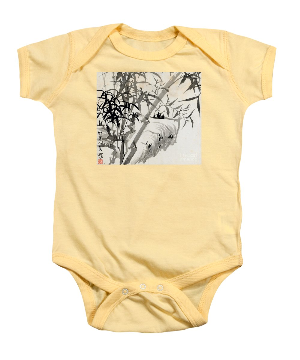Leaf Baby Onesie featuring the painting Leaf C by Rang Tian