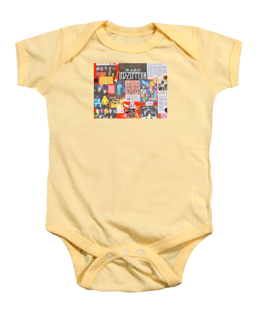 Led Zeppelin Baby Onesie featuring the photograph Led Zeppelin Color Collage by Donna Wilson