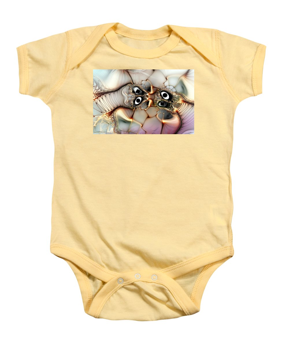 Abstract Baby Onesie featuring the digital art Lexicon Of The Visionary by Casey Kotas