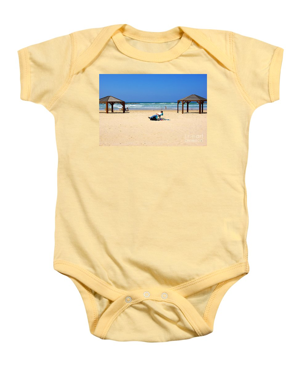 Beach Baby Onesie featuring the photograph Life After 60.. by Zal Latzkovich