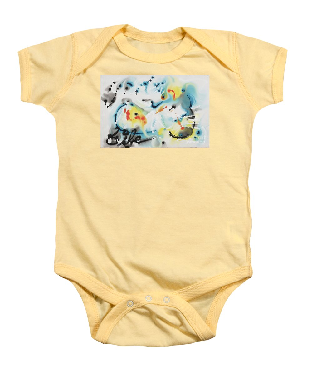 Life Baby Onesie featuring the painting Life by Nadine Rippelmeyer