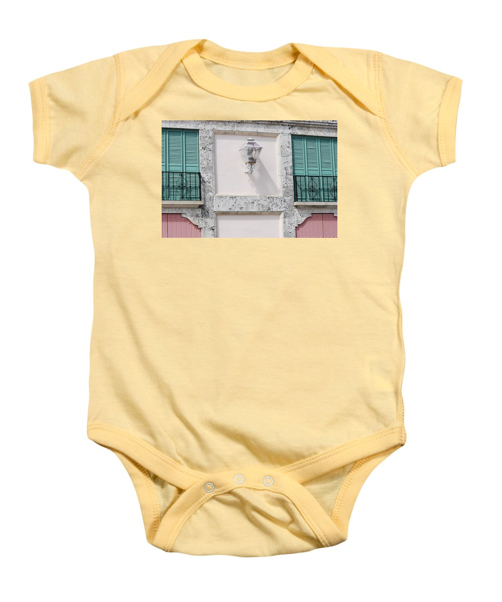 Neon Baby Onesie featuring the photograph Light On The Wall by Rob Hans