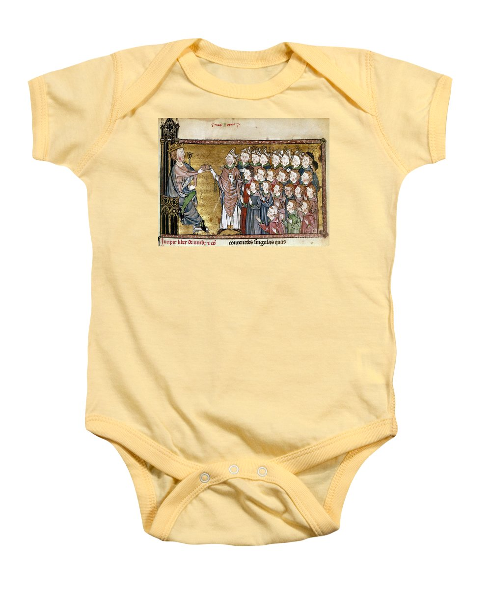 1340 Baby Onesie featuring the painting Louis Ix (1214-1270) by Granger