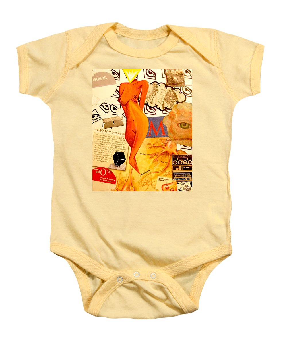 Luck Baby Onesie featuring the mixed media Luck Of The Draw by A 2 H D