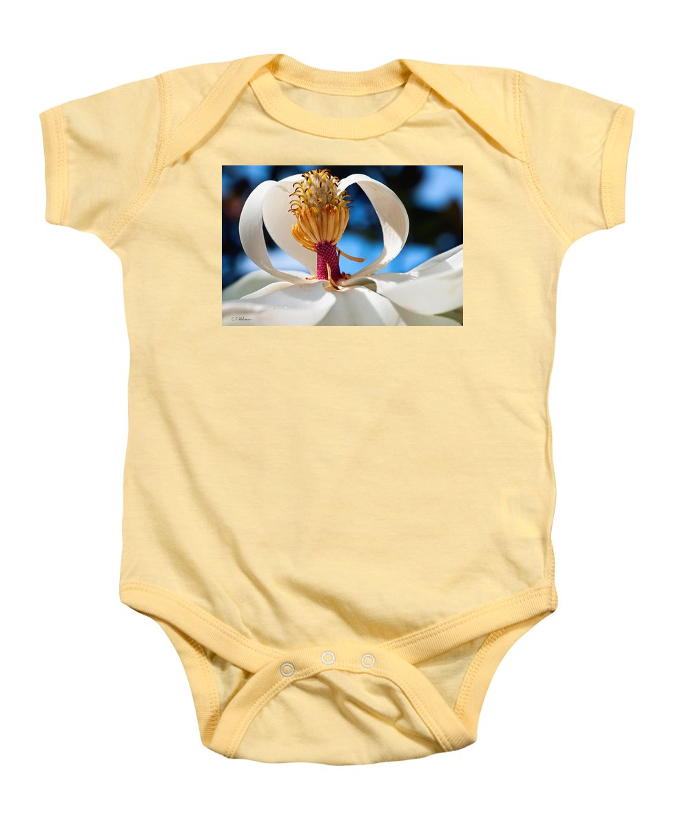 Flower Baby Onesie featuring the photograph Magnolia Passing by Christopher Holmes