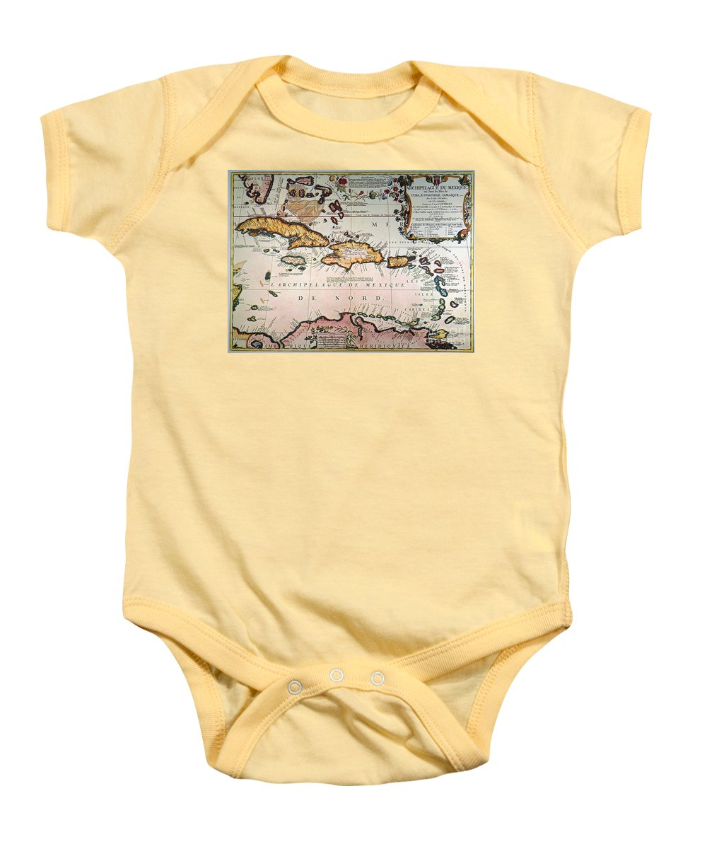 1688 Baby Onesie featuring the photograph Map: West Indies by Granger