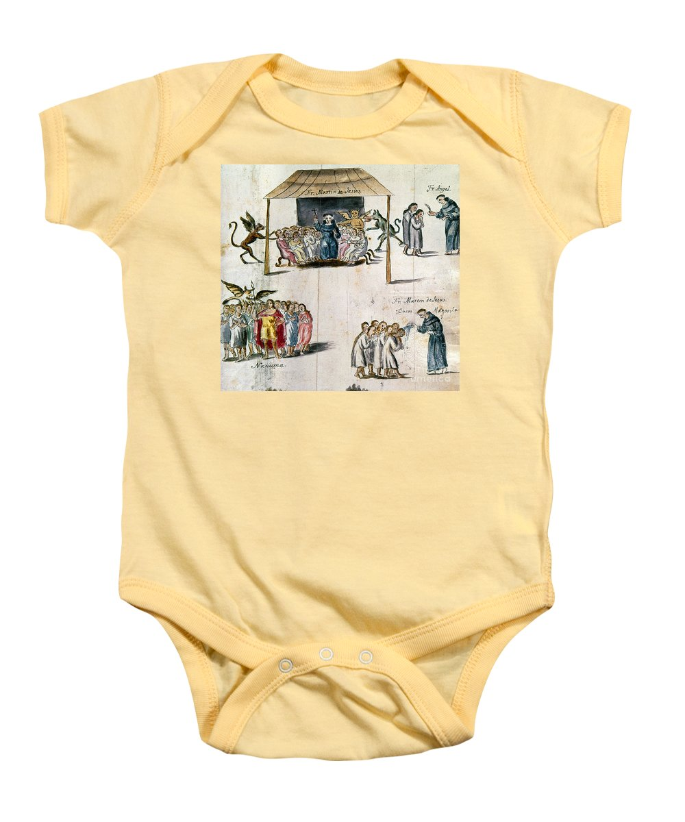 1750 Baby Onesie featuring the photograph Mexico: Missionaries by Granger