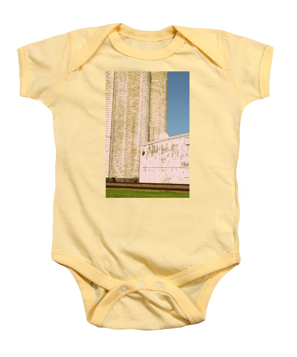 Silo Baby Onesie featuring the photograph Midwestern Monarch by Paulette B Wright
