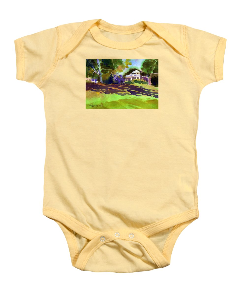 Thomas Jefferson Baby Onesie featuring the painting Monticello In October by Lee Klingenberg