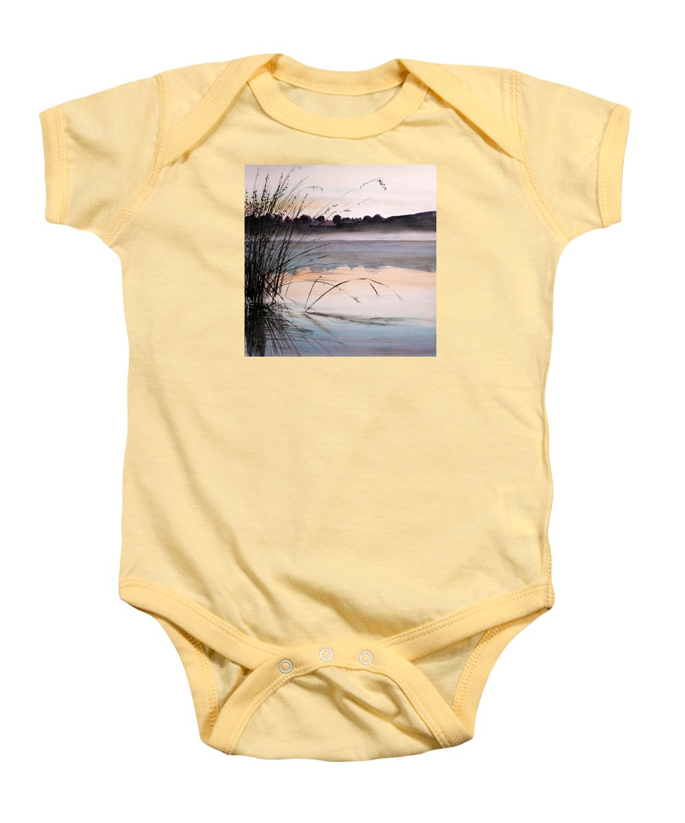 Watercolor Baby Onesie featuring the painting Morning Light by John Williams