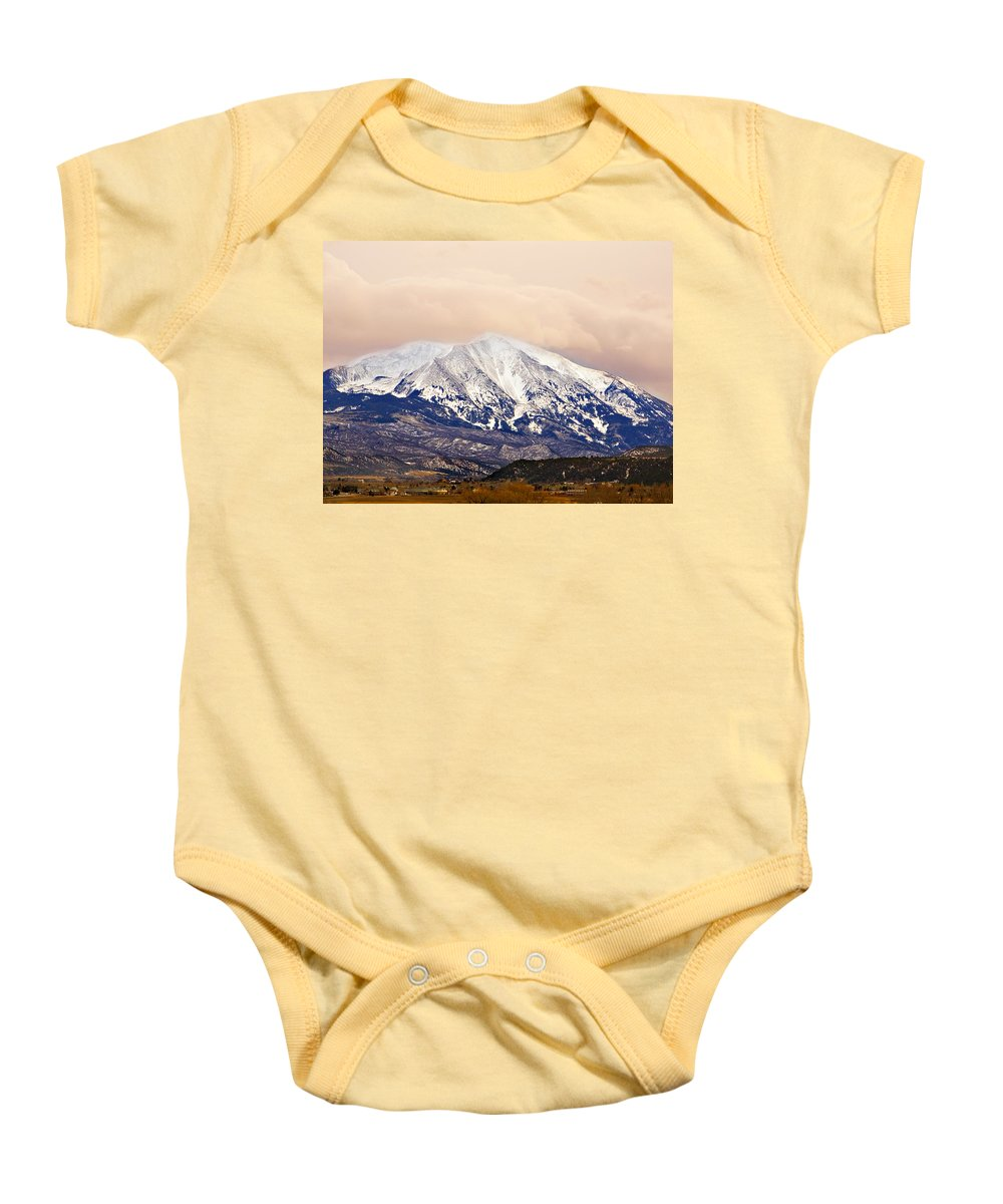 Americana Baby Onesie featuring the photograph Mount Sopris by Marilyn Hunt