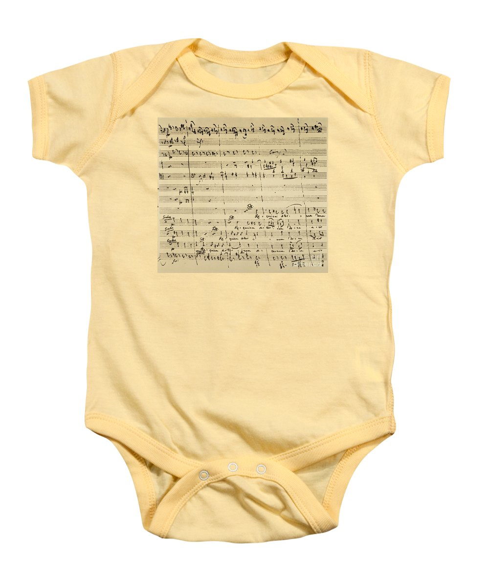 1791 Baby Onesie featuring the photograph Mozart: Requiem Excerpt by Granger