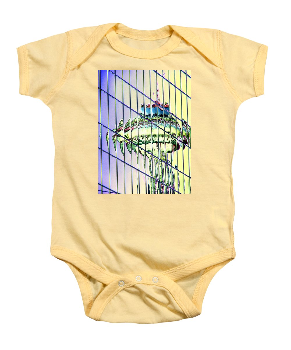 Seattle Baby Onesie featuring the photograph Needle Reflection 2 by Tim Allen