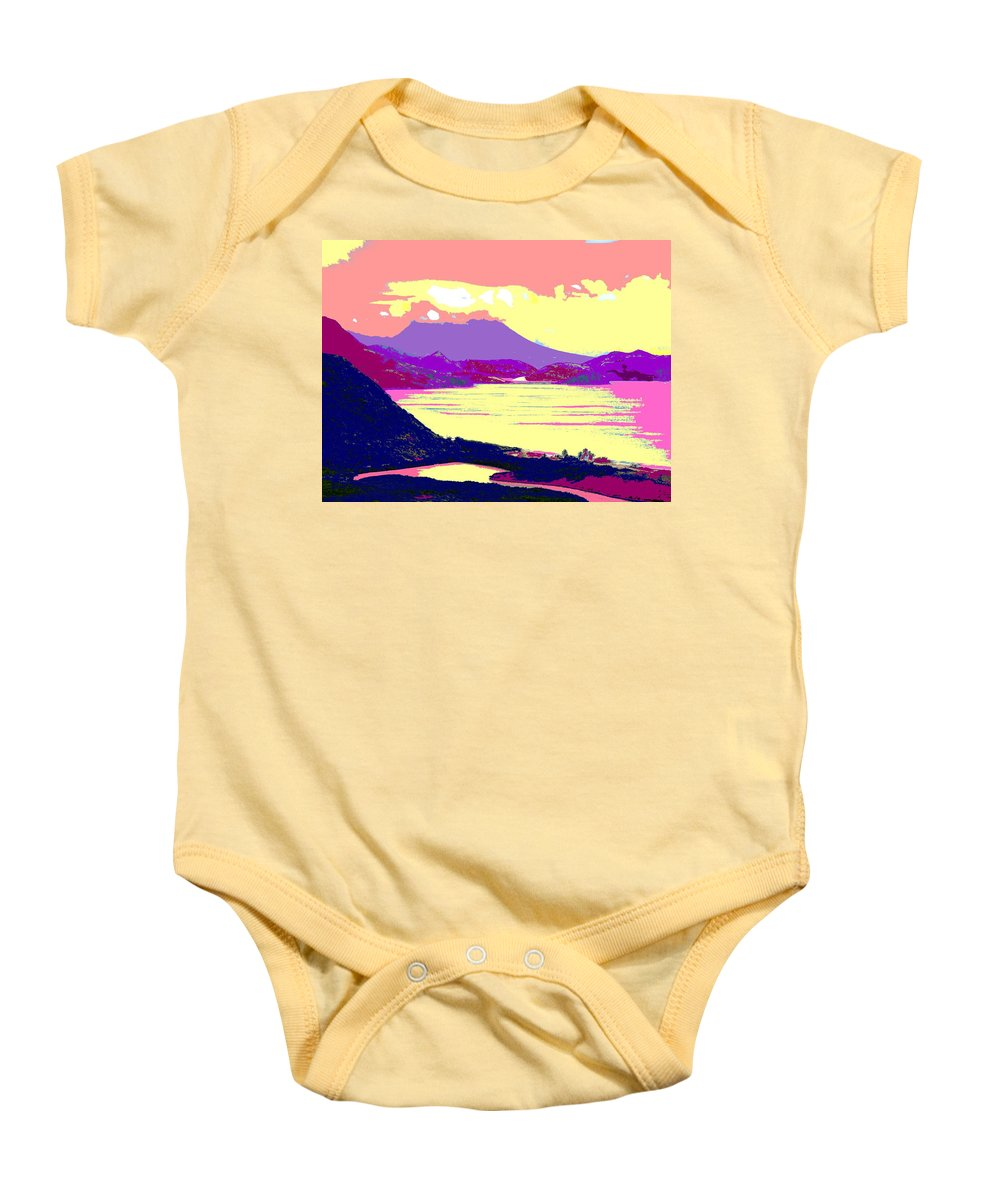 Nevis Baby Onesie featuring the photograph Nevis From The Penninsula by Ian MacDonald