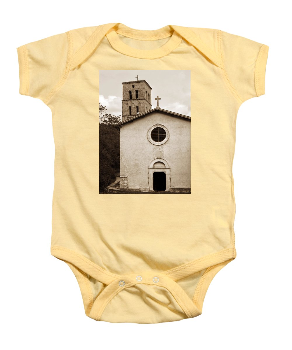 Curch Baby Onesie featuring the photograph Nice Old Church For Wedding by Marilyn Hunt