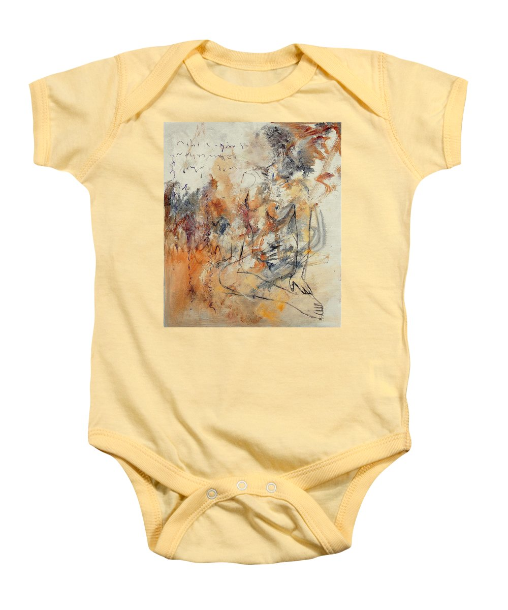 Girl Baby Onesie featuring the painting Nude 679070 by Pol Ledent