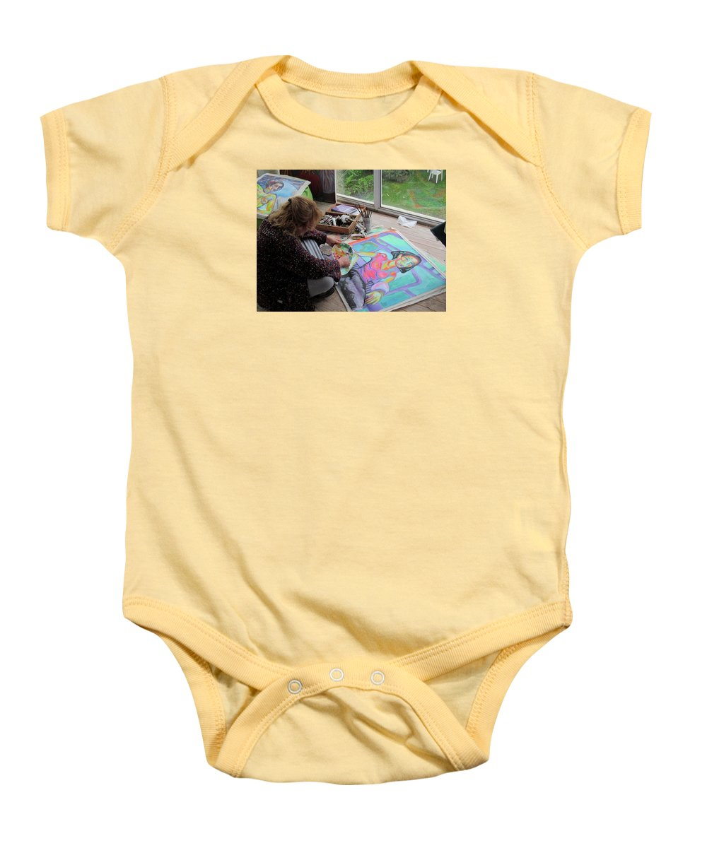 Landscape Baby Onesie featuring the painting Nude by Raquel Sarangello