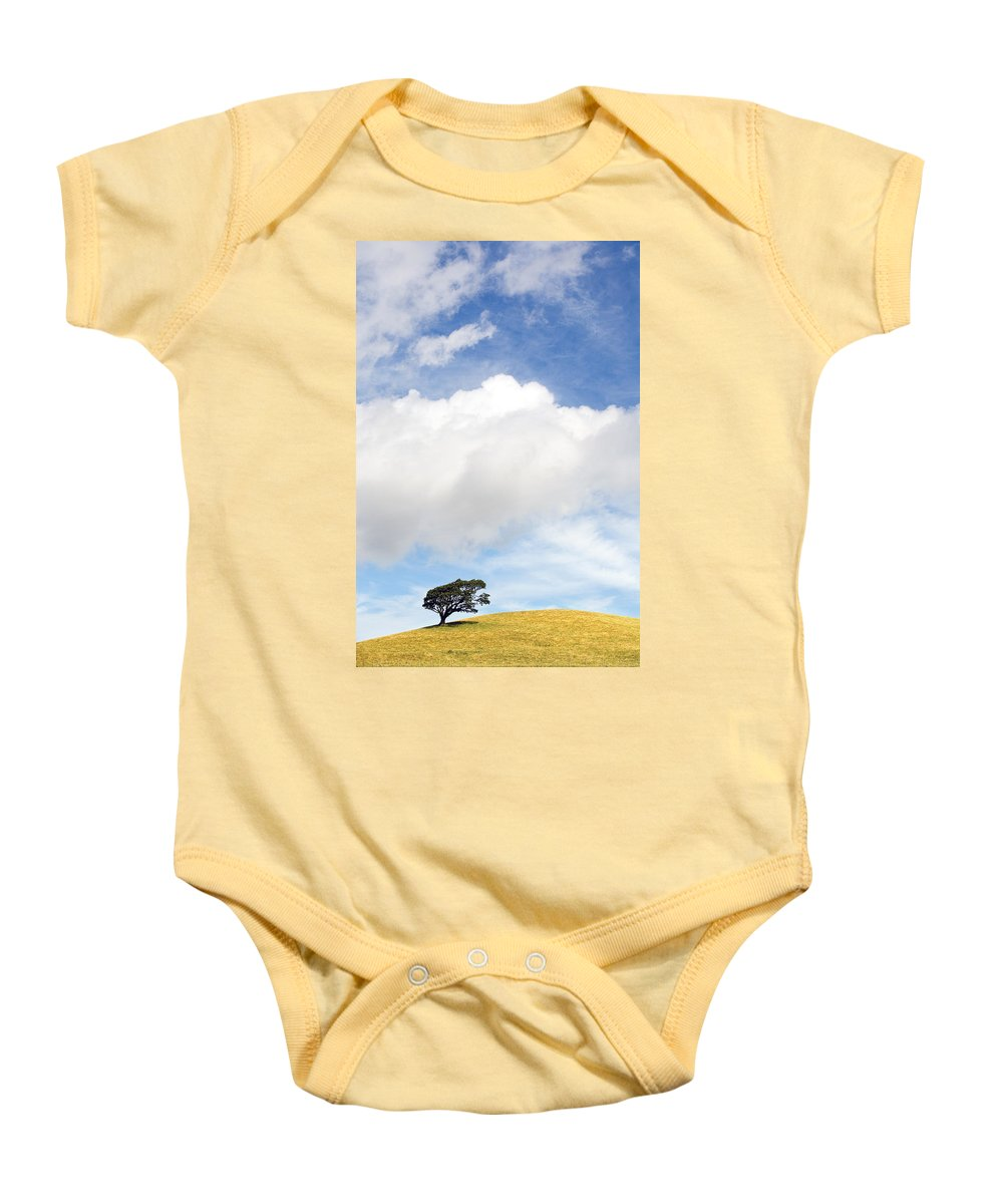 Landscape Baby Onesie featuring the photograph One Tree Hill by Mal Bray